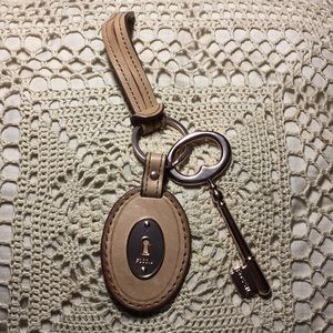 Fossil Rose Gold Key Ring Purse Charm